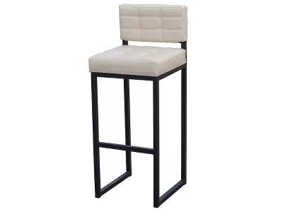 Барный стул Лофт-1 черный-белая рептилия
