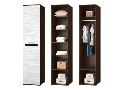 Шкаф 1 дверный для платья и белья в прихожую Мишель