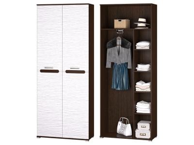 Шкаф 2-х дверный для платья и белья с выдвижной штангой в прихожую Мишель