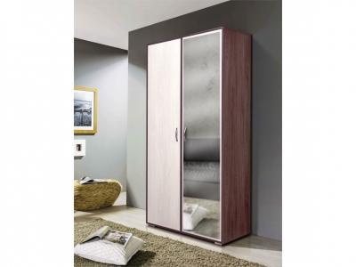 Шкаф 2-х дверный комбинированный с зеркалом Венеция 9