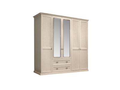 Шкаф 5-ти дверный с зеркалами для платья и белья с выдвижными ящиками ВНШ1/51 Венеция