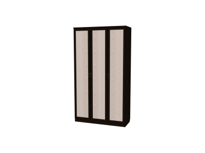 Шкаф для белья 3-х дверный артикул 106 венге