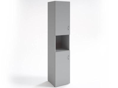 Шкаф для документов узкий НШ-12 Серый
