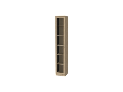 Шкаф для книг узкий артикул 222 дуб сонома