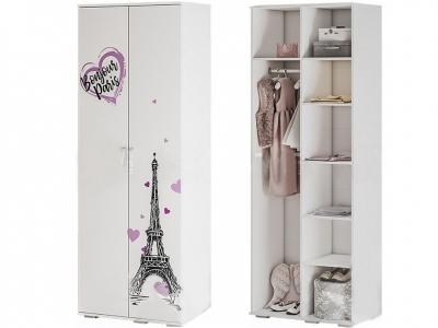 Шкаф для одежды ШК-09 Трио белый/бонжур