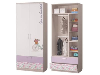 Шкаф для одежды с 2-мя ящиками Адель