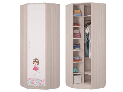 Шкаф для платья и белья угловой Адель