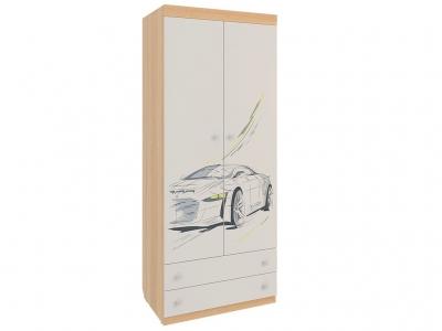 Шкаф комбинированный с ящиками 2-створчатый Форсаж