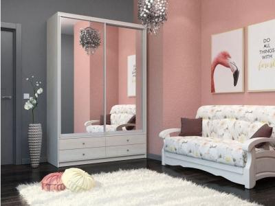 Шкаф-купе Ольга с двумя зеркалами бодега светлая