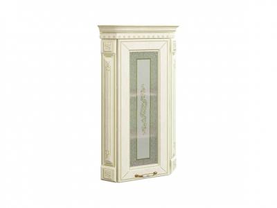Шкаф торцевой закрытый с колоннами лев-прав 71.16 Оливия Крем 320х320х880