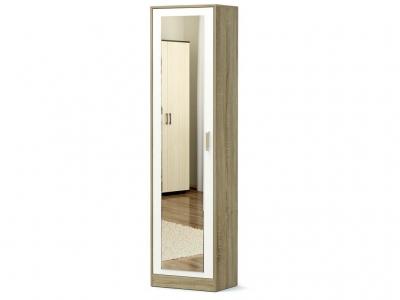 Шкаф-1 Модуль с зеркалом Дуб сонома - Белый
