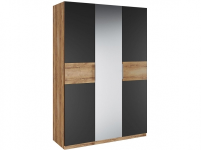 Шкаф 3 двери зеркало Рамона Р 1.0.1 Дуб кельтский/Черный