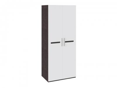 Шкаф для одежды с 2 дверями Фьюжн ТД-260.07.02 Белый глянец, Венге Линум