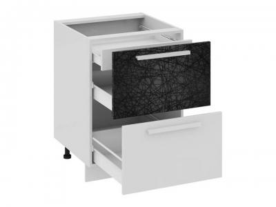 Шкаф напольный с 2 ящиками и 1 внутренним Н2я1_72-60_2Я Фэнтези Лайнс