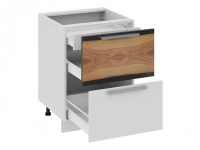 Шкаф напольный с 2 ящиками и 1 внутренним Н2я1_72-60_2Я Фэнтези Вуд