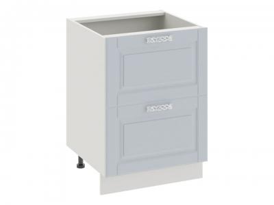 Шкаф напольный с 2 ящиками Н2я_72-60_2Я Скай Голубая