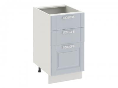 Шкаф напольный с 3 ящиками Н3я_72-45_3Я Скай Голубая