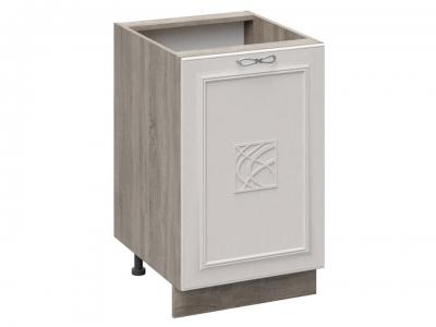 Шкаф напольный с декором Н_72-50_1ДР(Д) Сабрина