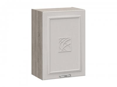 Шкаф навесной с декором В_72-50_1ДР(Д) Сабрина