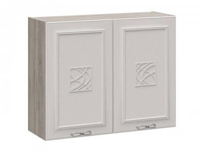 Шкаф навесной с декором В_72-90_2ДР(Д) Сабрина