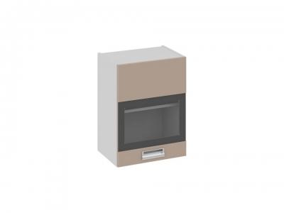 Шкаф навесной со стеклом левый В_60-45_1ДРс(А) Бьюти Капучино