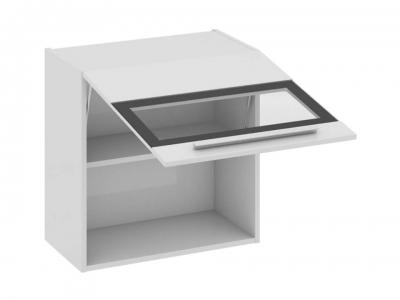 Шкаф навесной со стеклом В_60-60_1ДОс Фэнтези Белый универс
