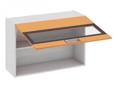 Шкаф навесной со стеклом В_60-90_1ДОс Бьюти Оранж