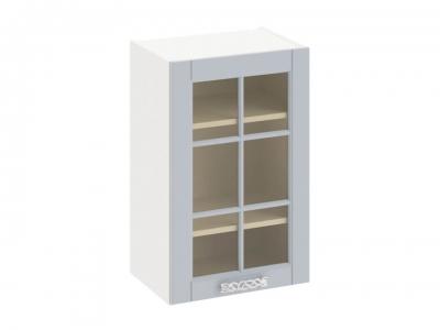 Шкаф навесной со стеклом В_72-45_1ДРс Скай Голубая