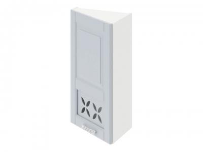 Шкаф навесной торцевой c декором ВТ_72-40(45)_1ДРД(L) Скай Голубая