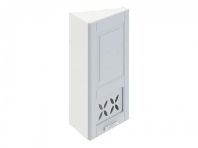 Шкаф навесной торцевой c декором ВТ_72-40(45)_1ДРД(R) Скай Голубая