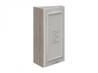 Шкаф навесной торцевой с декором ВТ_72-40(45)_1ДР(Д) Сабрина