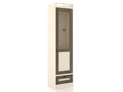Шкаф однодверный стекло Калипсо ЛД.509020.000 Сономе эйч темная