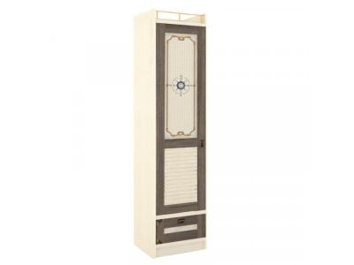 Шкаф одностворчатый с глухой дверью Калипсо ЛД.509020.000 М 476х1984х440 Сономе эйч темная