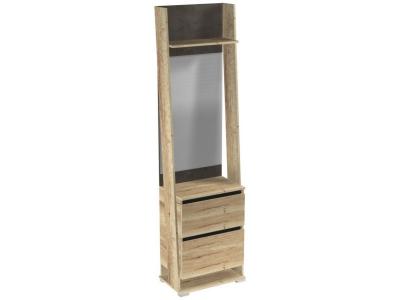 Шкаф открытый с зеркалом Стреза ПС-3 600х375х2200