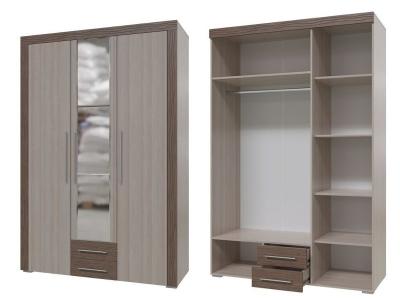 Шкаф распашной с ящиками 3-х дверный Азалия 4-4805 2220х1480х570