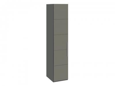 Шкаф с 1 дверью Наоми СМ-208.07.01 Серый, Джут