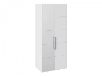 Шкаф с 1 глух. и 1 зерк. левой дверями Наоми СМ-208.07.04 L Белый глянец