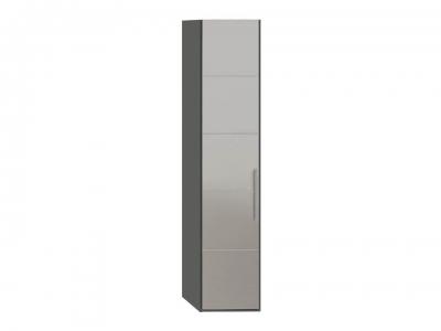 Шкаф с 1 зерк. дверью левый Наоми СМ-208.07.02 L Серый, Джут