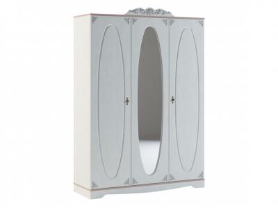 Шкаф трехдверный с зеркалом Флоранс Ф 1.0.1