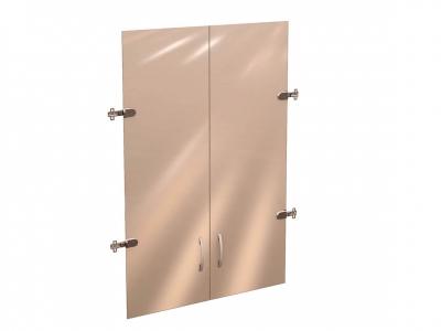 Дверь стеклянная 3 секции 41.38 Рубин 700х1110