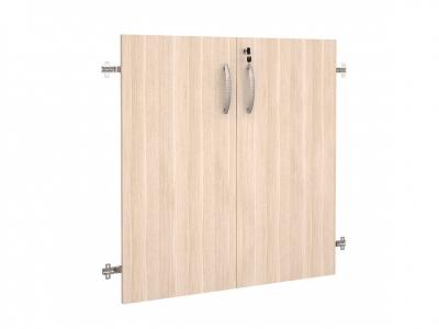 Двери ЛДСП 2 секции с замком 63.59 Альфа 750х790