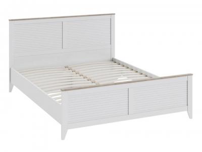 Двуспальная кровать Ривьера СМ 241.01.001 Дуб Бонифацио, Белый