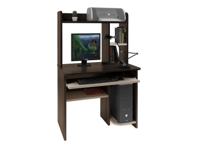 Компьютерный стол Интел 1 Венге-Дуб молочный