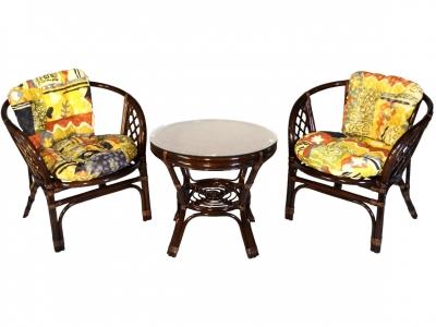 Комплект Багама Дуэт темно-коричневый подушки цветные