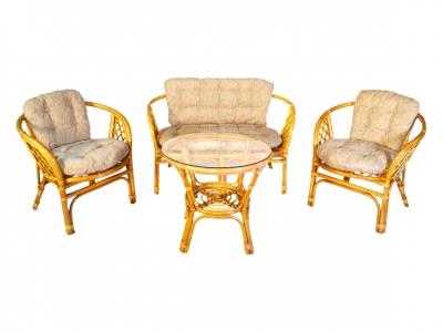 Комплект Багама с диваном мед подушки светлые