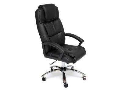 Кресло Bergamo хром + кож.зам Чёрный (36-6)