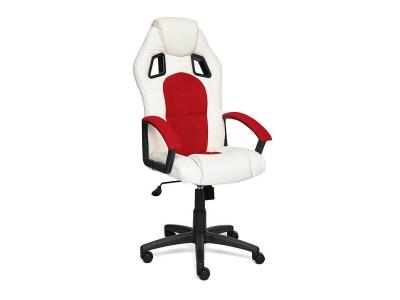 Кресло Driver иск кожа - ткань Белый - Красный