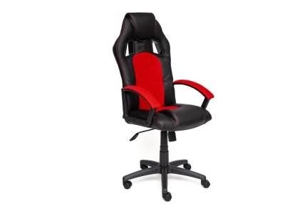 Кресло Driver иск кожа - ткань Чёрный - Красный