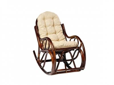 Кресло-качалка 05/04 с толстой подушкой молочный шоколад