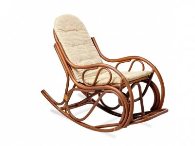 Кресло-качалка 05/04 с тонкой подушкой орех матовый